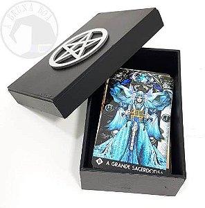 Caixa para Tarot - Pentagrama - caixinha para tarô em MDF