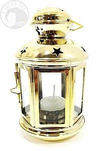 Lanterna de Metal Dourada - Porta Vela