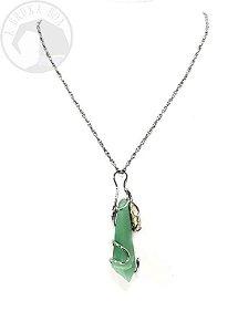 Amuleto - Quartzo Verde e Quartzo Rutilado