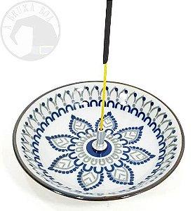 Incensário Porcelana - Flor