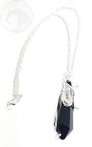 Amuleto Ponta de Obsidiana e Cristal