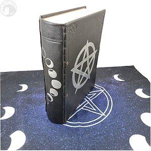 Grimório Pentagrama - Modelo A4 - GRÁTIS uma Toalha Pentagrama Fases da Lua