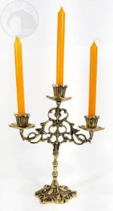 Castiçal para 3 Velas - Bronze