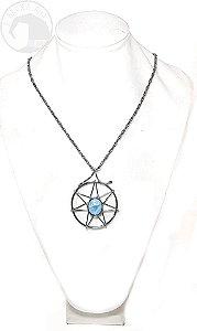 Amuleto - Heptagrama Água Marinha