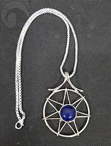 Amuleto - Heptagrama Lápis Lazuli
