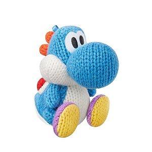 Boneco Amiibo Light Blue Yarn Yoshi - Wii U