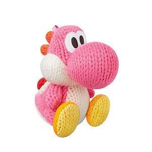 Boneco Amiibo Pink Yarn Yoshi - Wii U