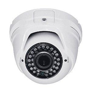 Câmera Dome HDCVI Varifocal Infravermelho 1.3 Megapixel HD 960p 40 Metros 2.8-12mm - JTC CVI210