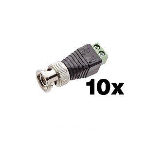 BNC-01 - Conector BNC com Borne (10Unidades)