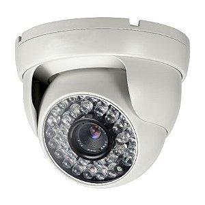 """Câmera Dome Infravermelho 1/3"""" 1200 TVLinhas 25 Metros 3.6mm Alta Resolução - JTC DP1099"""