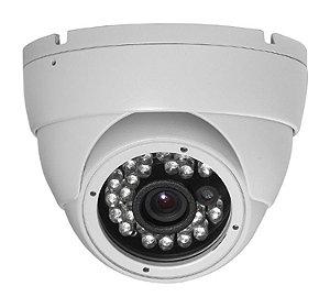 """Câmera Dome Metal Infravermelho 1/3"""" 1200 TVLinhas 25 Metros 3.6mm IP66 Alta Resolução - JTC DM1099"""