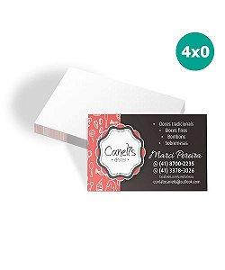 Cartão de Visita |1000 unidades  |4x0 | UV Total Frente
