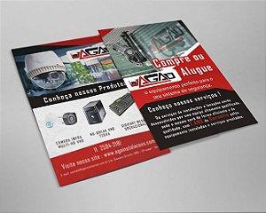 Panfleto  | 1000 unidades |4x4 | UV Total Frente e Verso