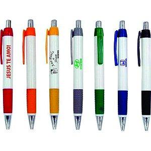 Canetas Plásticas |50 unidades |Impressão Colorida