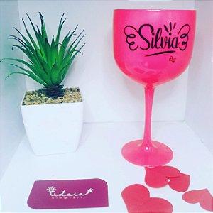 Taça Gin Rosa Pink Personalizada | 1X1