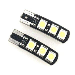 Lâmpada T10 CANBUS ICE BLUE 6 LED's (Pingo - W5W ) - Par (2 unidades)