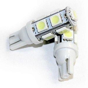 Lâmpada T10 9 LED (Pingo - W5W) - Par (2 unidades)