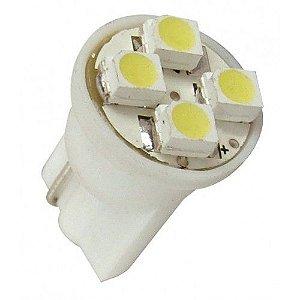 Lâmpada T10 4 LED's (Pingo - W5W) - Par (2 unidades)