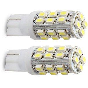 Lâmpada T10 28 LED's (Pingo - W5W) - Par (2 unidades)