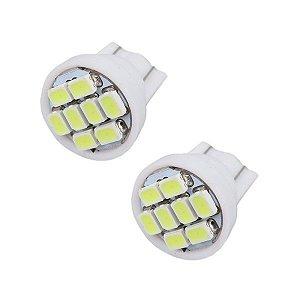 Lâmpada T10 8 LED's (Pingo - W5W) - Par (2 unidades)