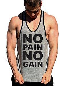 Regata Cavada No Pain No Gain - 2 Letras com viés
