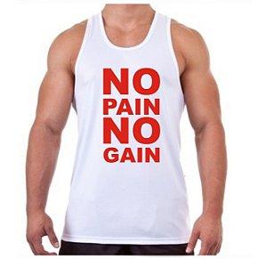 REGATA MASCULINA NO PAIN NO GAIN - 2 LETRAS