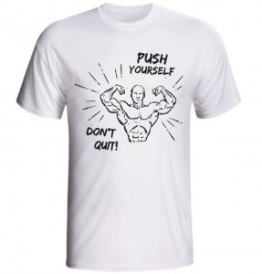CAMISETA PUSH YOURSELF DON'T QUIT