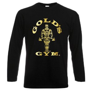 CAMISETA MANGA LONGA GOLDS GYM OURO