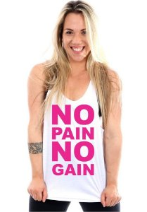 REGATA CAVADA FEMININA NO PAIN NO GAIN