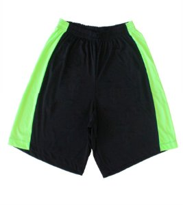 Bermuda Masculina Dryfit Cor Preta Lateral Verde Fluor