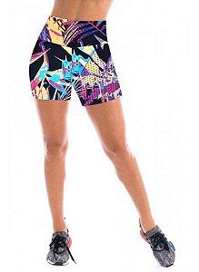 Short de academia feminino Cintura Alta - CD:2130