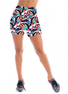 Short Feminino Estampada Cintura Alta - CD:2170