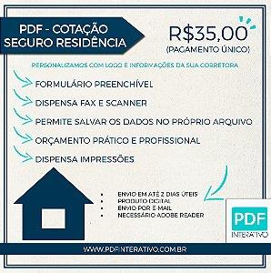 PDF Preenchível para Cotação de Seguro Residência