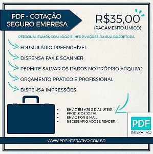 PDF Preenchível e Gravável Para Cotação Seguro Empresa