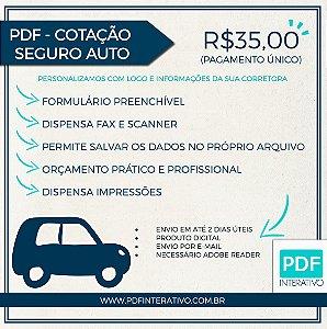 PDF Preenchível e Gravável Para Cotação de Seguro Auto