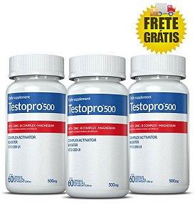 Combo Testosterona maxima 3X TESTOPRO 500 (60 CAPS CADA)