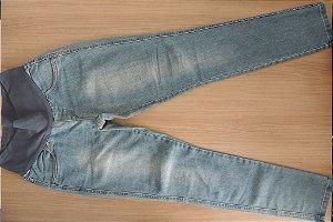 Calça Jeans com Elástico Tam P