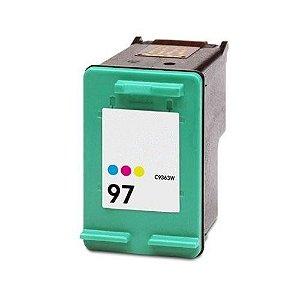 Cartucho HP 97 C9363 C9363WB Tricolor Compatível  9 ml