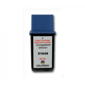 Cartucho HP 49 649 51649 51649A Color 22,8ml Compatível