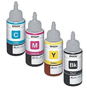 Kit Refil Tinta Corante Epson L110 L100  L120  L200 L220 L220 L4550 L355 L365 L375 L380 L395 100ml Compatível
