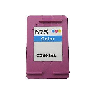 Cartucho de Tinta Compatível HP 675 CN691A Colorido