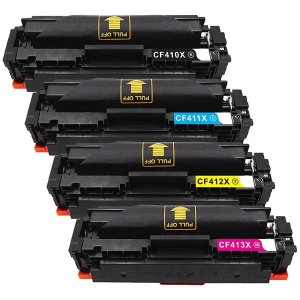 Kit Toner Compatível CF410X 11X 12X 13X HP| para M452DW M452DN M477FDW M477FNW M477FDN