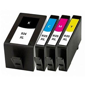Kit Cartuchos HP 935 XL CMY e HP 934 K Compatível HP para OfficeJet Pro \ HP 6230 \ HP 6830 - Modelos 934XL \ 935XL