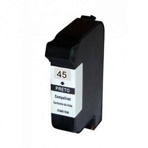 Cartucho de Tinta Compatível HP 51645A 38ML Preto
