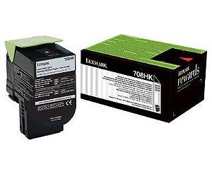 Toner Lexmark 70C8HK0 Preto 708HK CS510de CS310dn Original