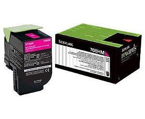Toner Lexmark 70C8HM0 Magenta 708HM CS510de CS310dn Original