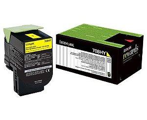 Toner Lexmark 70C8HY0 Yellow 708HC CS510de CS310dn Original
