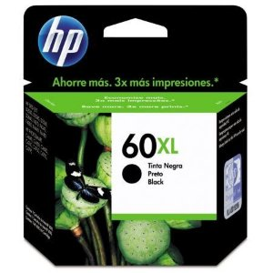Cartucho HP 60XL Preto CC641WB D2530 C4650 Original 12ml