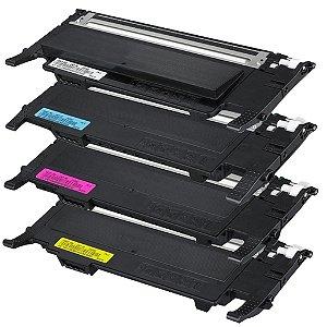 Kit Toner Samsung K407S C407S M407S Y407S CLX-3185 CLT-C407S CLP320 CLP325 CLP320N CLP325W CLX3185FN Compatível AGS
