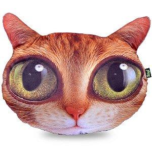 Almofada de Pelúcia BigHead Cat